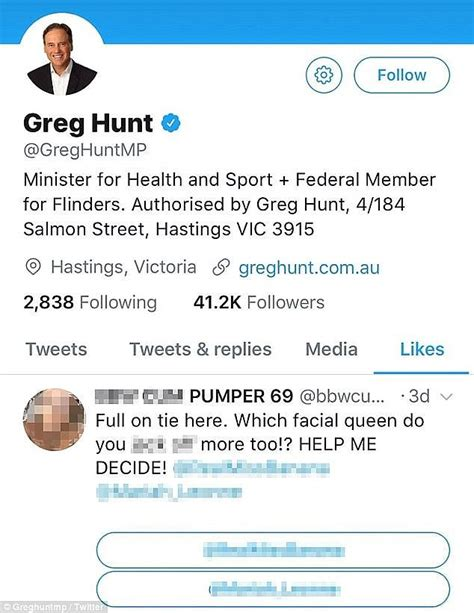 with his termed twitter account rubbishing the rumors his close friend health minister greg hunt was not hacked when his twitter