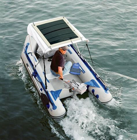 running lights for inflatable boats using solar power to run electric boats metaefficient