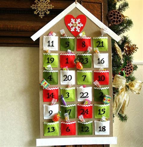 how to make handmade calendar 1000 ideas about felt advent calendar on diy