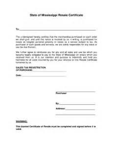 Blanket Certification Letter blank mississippi resale certificate fill online printable