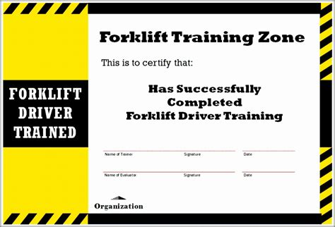 Forklift Certification Card Template Xls by 7 Forklift Certification Card Template Taiyy Templatesz234