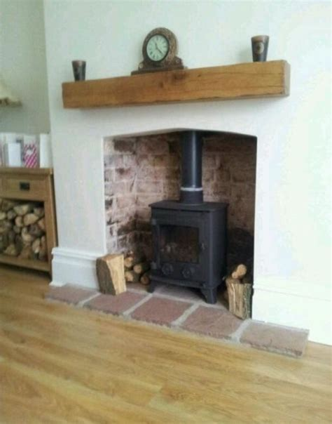solid oak beams floating shelf mantle