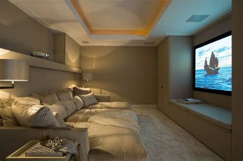 Home Theatre With A Deep Cushion Couch For The Home