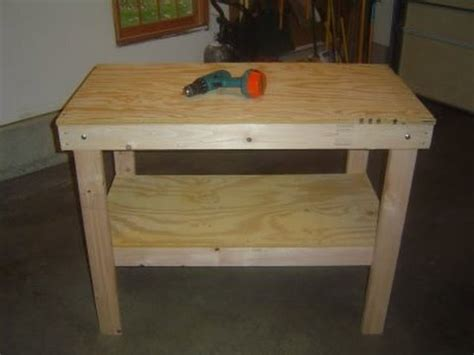 How To Build A Workbench For Garage by Build A Garage Workbench