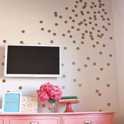 gold dot wall decals polka dot vinyl wall decals create pinterest