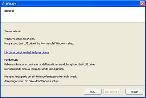 membuat usb bisa booting membuat bootable usb dengan wintoflash untuk install windows 7