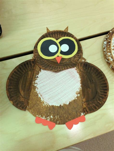Owl Paper Plate Craft - paper plate owl craft crafts by amanda the knownledge