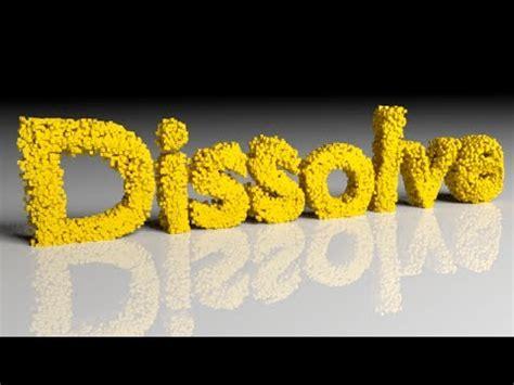 blender tutorial dissolve blender tutorial dissolve animation youtube