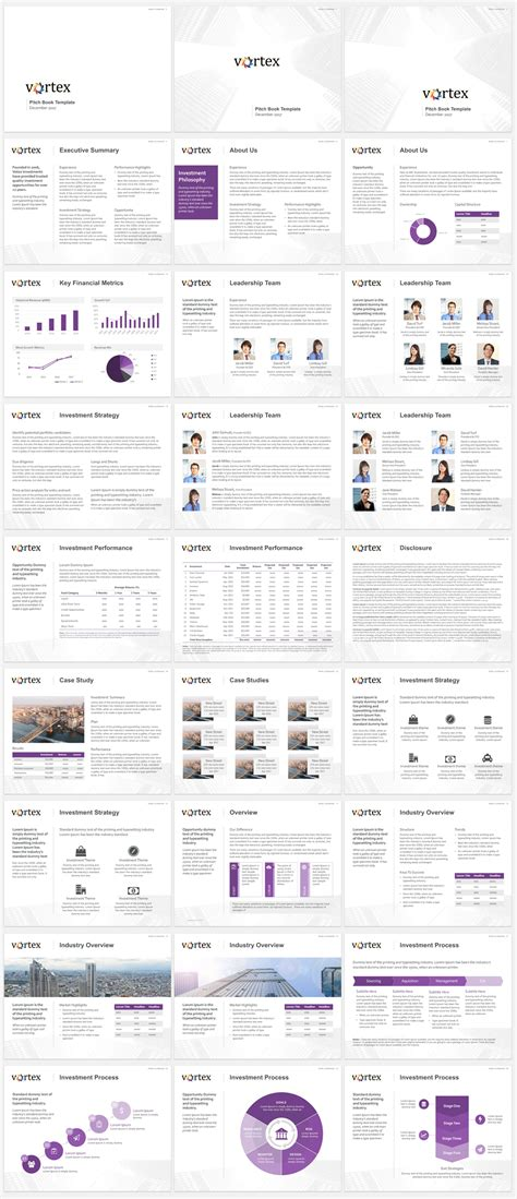 pitch book template   investment banking pitch