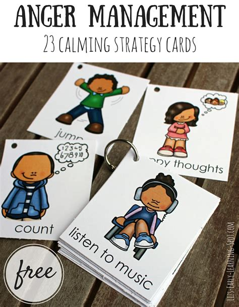 self comforting behaviors anger management 23 free calming strategy cards