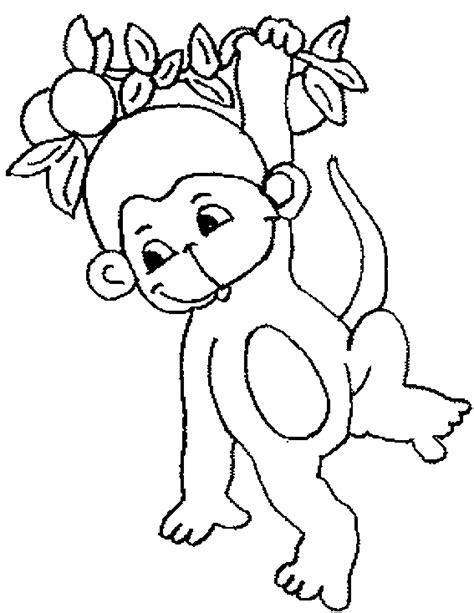 monkey coloring pages for kids kids world