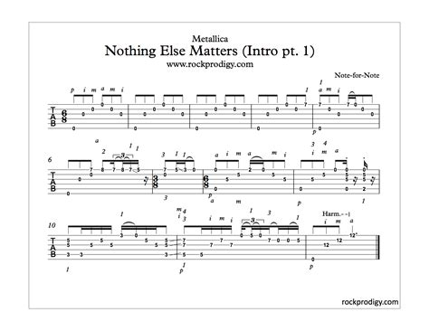 Metallica Nothing Else Matters Guitar Chords