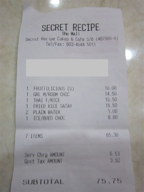 harga secret jom lepak lepak secret recipe the mall