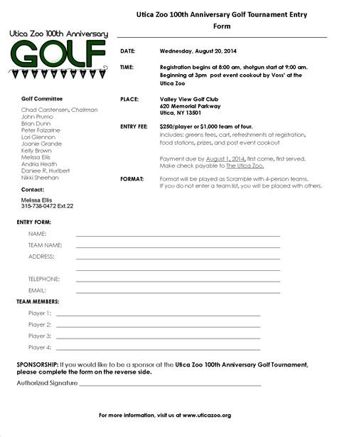 golf outing sign up sheet template image collections