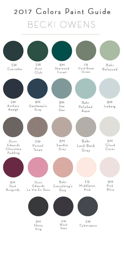 top colors 2017 17 best images about paint whole house color palette on