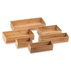 bamboo drawer organizer bed bath beyond