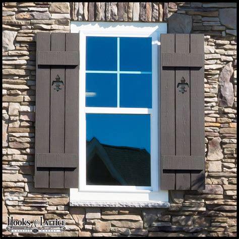 Dog Hooks Decorative Board And Batten Exterior Window Shutters Hooks Amp Lattice