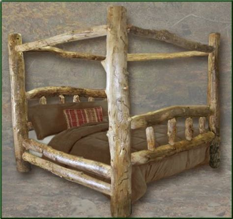 log beds king size king size aspen canopy log bed log cabin bedroom