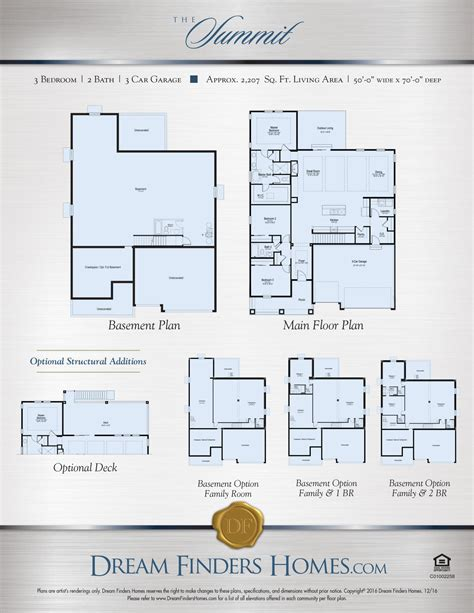 dream finders homes floor plans summit dream finders homes