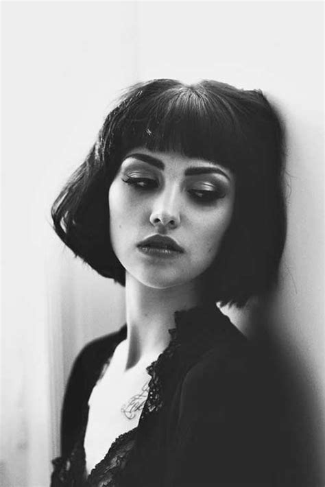 bob with heavy fringe 20 beautiful short bob with bangs bob hairstyles 2017