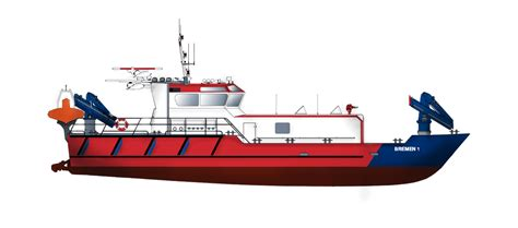boat service station fire fighting vessel for both fire fighting emergency duties