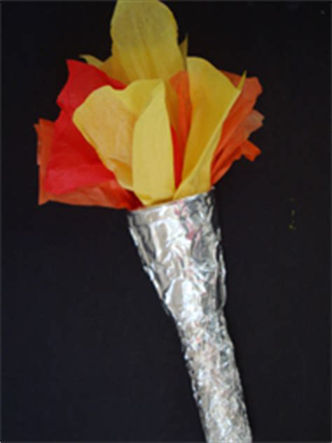How To Make A Paper Torch - preschool crafts for olympic torch craft 2