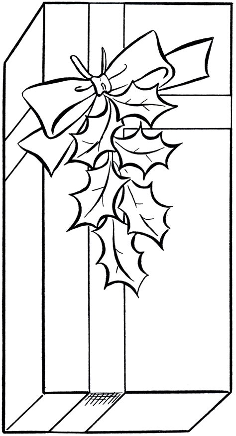 gift coloring page gift clip image coloring page the