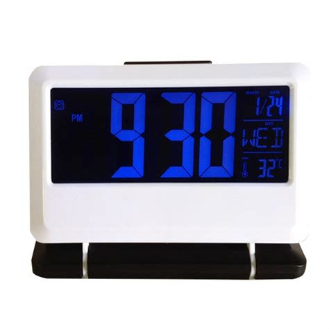 sound clap digital led alarm clock desktop time calendar clock sl ebay