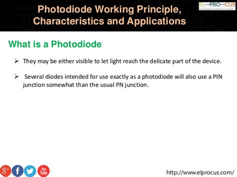pin photodiode working principle ppt photodiode working principle characteristics and applications