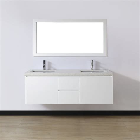 Top Of Kitchen Cabinet Storage shop spa bathe bach white glossy undermount double sink