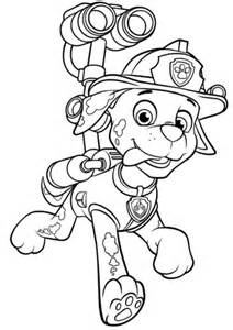 paw patrol marshall water cannon coloring free printable coloring pages