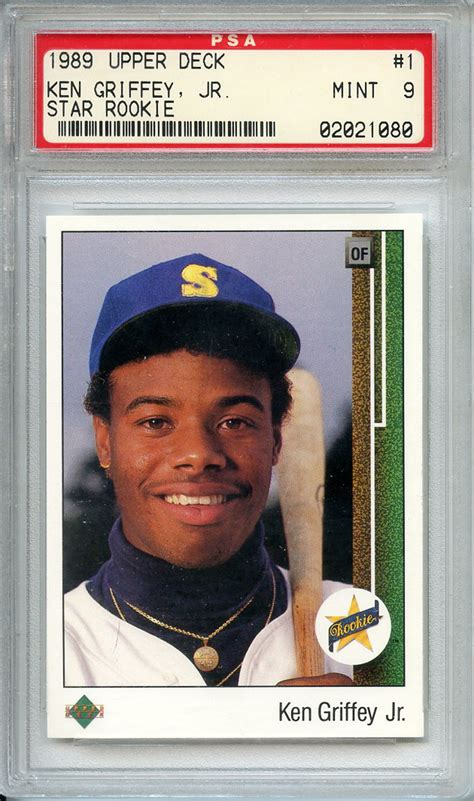 Deck Ken Griffey Jr by Lot Detail 1989 Deck 1 Ken Griffey Jr Rc Psa Mint 9