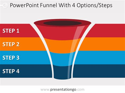4 Level Funnel Diagram For Powerpoint Presentationgo Com Funnel Chart Powerpoint