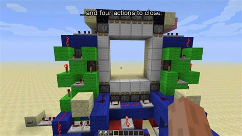 Redstone Doors by Compact 4x4 Piston Door Minecraft Redstone Showcase