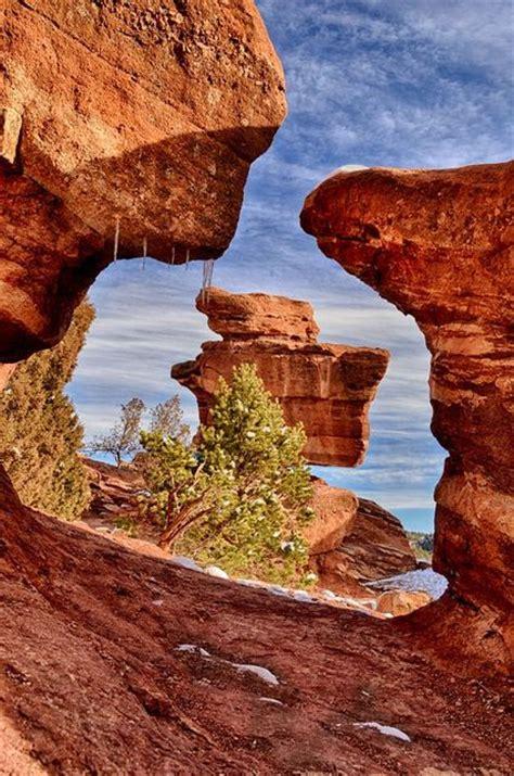 Balanced Rock Garden Of The Gods Garden Of The Gods Balanced Rock God And Colorado