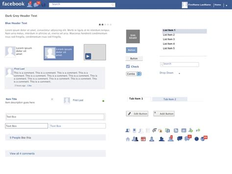 axure facebook widgets library powerpoint storyboard