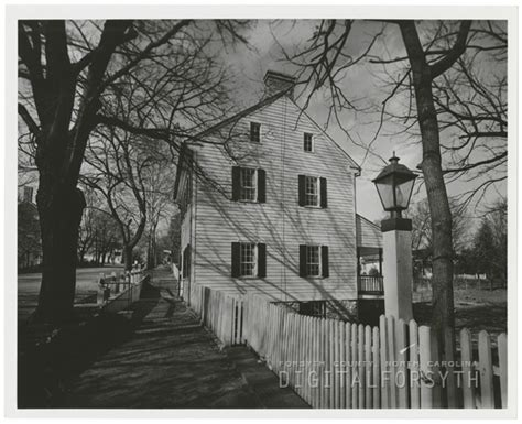 vogler house digital forsyth timothy vogler house in old salem 1961