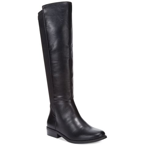 stretch boots rage ivory 50 50 stretch boots in black lyst