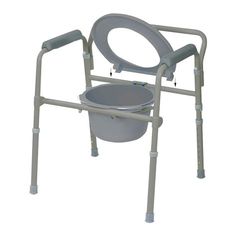 Folding Steel Commode by Drive Competitive Edge Line Folding Bariatric Steel