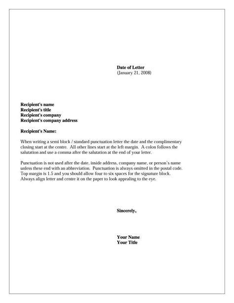 Letter Salutation Exles