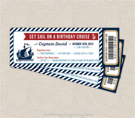 free printable cruise ticket template nautical boarding pass invitation nautical cruise ticket