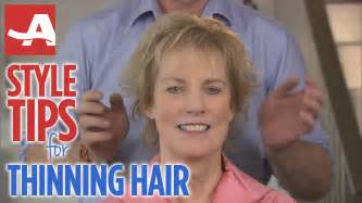thin hair on top style tips for thinning hair best of everything aarp