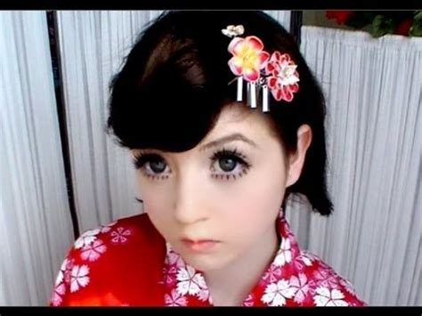 how to do japanese hairstyles traditional easy yukata hairstyles youtube