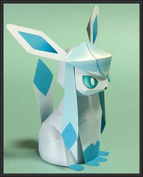 Glaceon Papercraft - papercraftsquare new paper craft glaceon