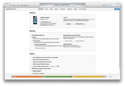 step up on itunes how to setup a new iphone from an itunes backup