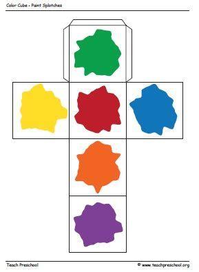 colour themes for preschoolers cubo da cores escola pinterest