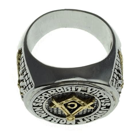 masonic master ring silver