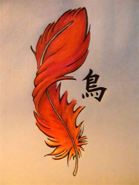 phoenix feather tattoo feather w different lettering wording plus the