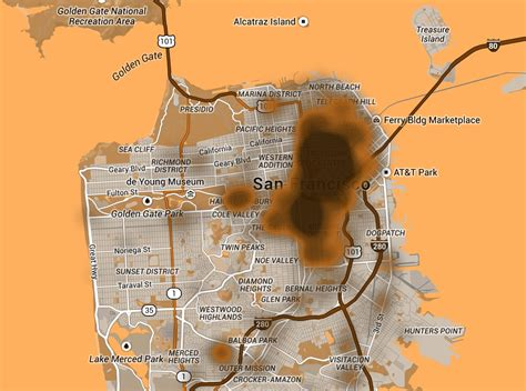 san francisco excrement map web developer creates map of san francisco to track