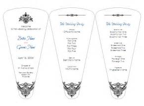 Fan Wedding Programs Template by 301 Moved Permanently